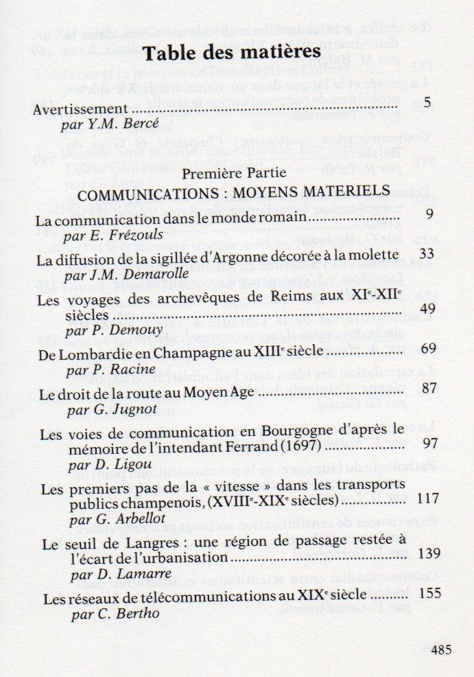 TAR sommaire 164