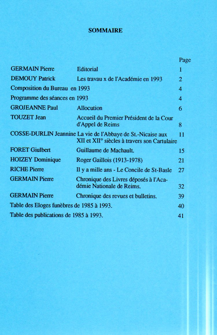 annales sommaire 9