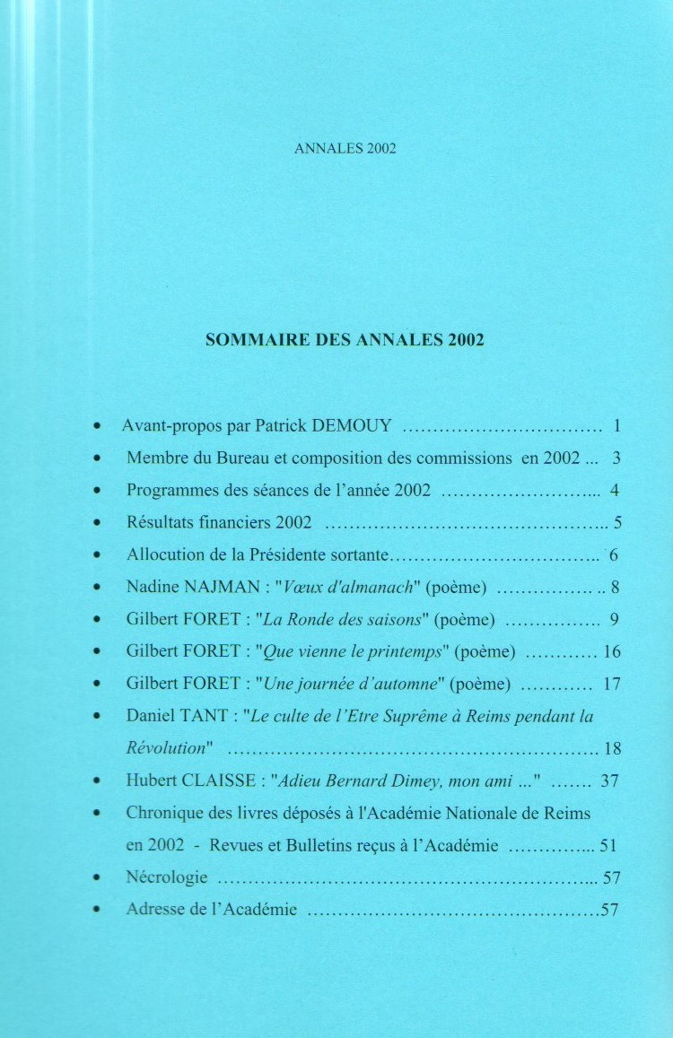 annales sommaire 17