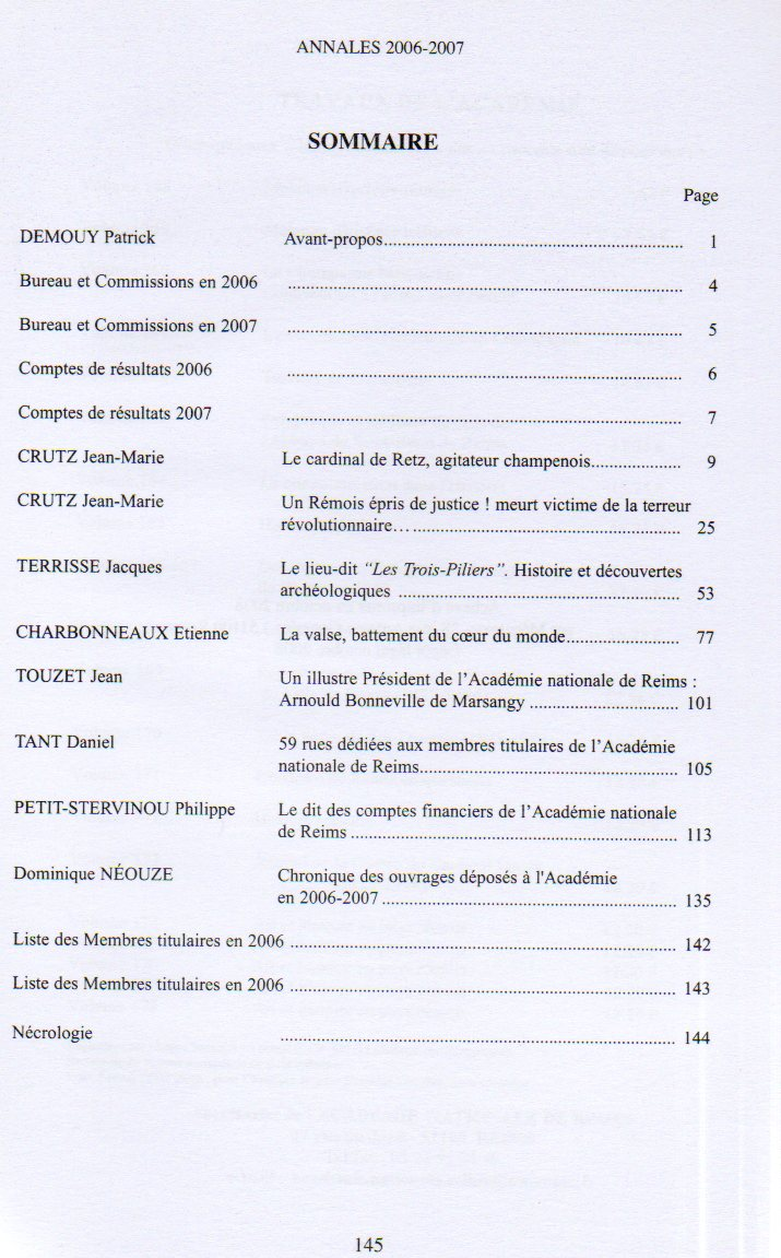 annales sommaire 20