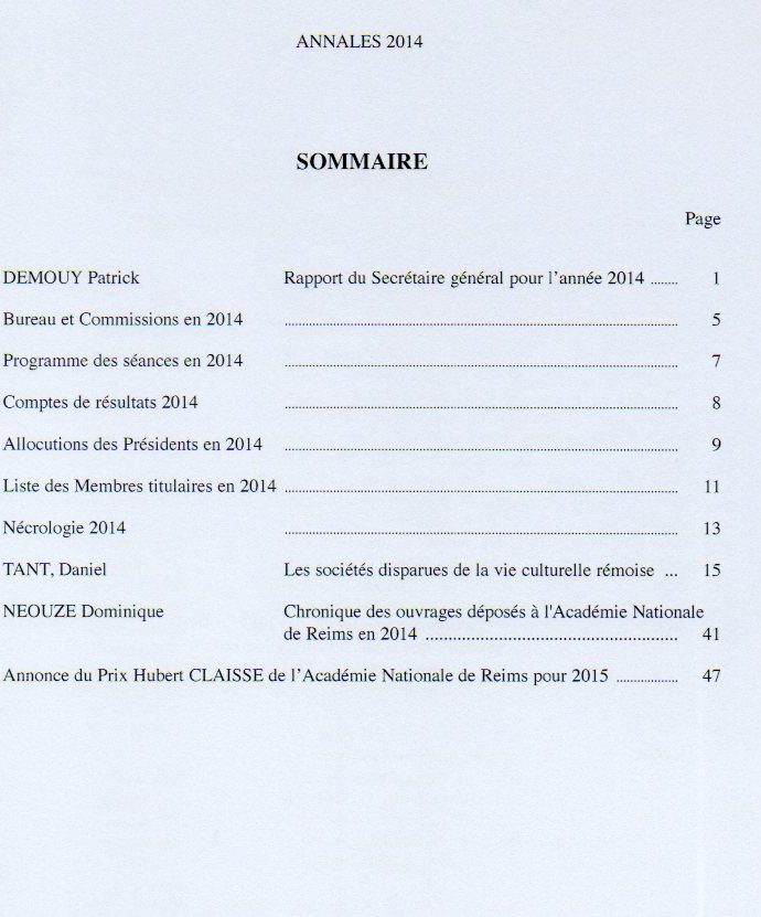 annales sommaire 25
